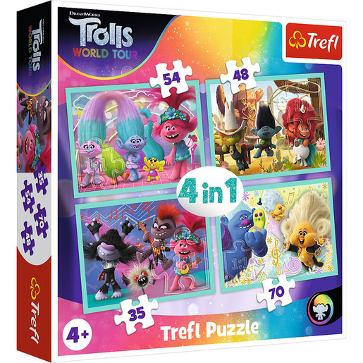 Trefl DreamWorks Trolls World Tour 4-in-1 Puzzles