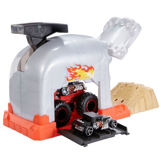 Hot Wheels Monster Trucks Pit and Launch Bone shaker Playset from TheToyShop