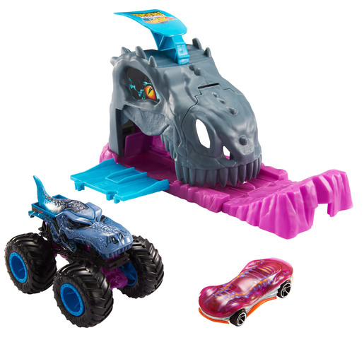 Hot Wheels Monster Trucks Pit and Launch - Team Mega-Wrex
