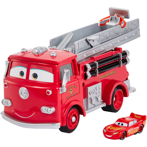 Disney Pixar Cars Stunt and Splash Red Fire Engine