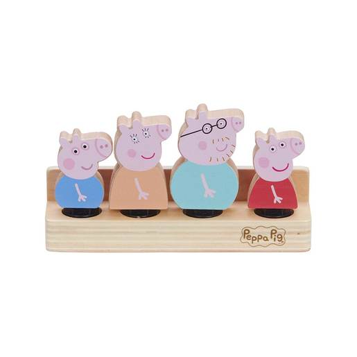 Peppa Pig Wooden Family Figures - 4 pack