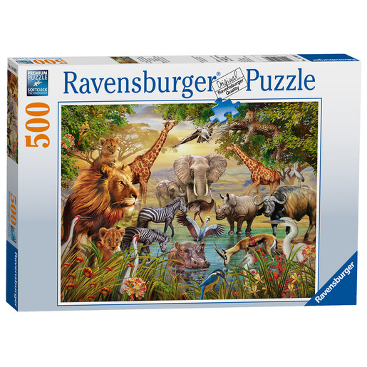 Ravensburger Animals At The Waterhole Puzzle - 500pc