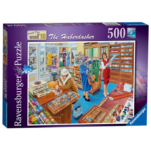 Ravensburger Happy Days at Work The Haberdasher Puzzle - 500pc