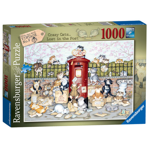 Ravensburger Crazy Cats Lost in the Post Puzzle - 1000pc