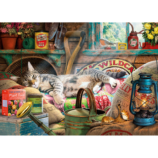 Gibsons Snoozing In The Shed Puzzle - 500pcs