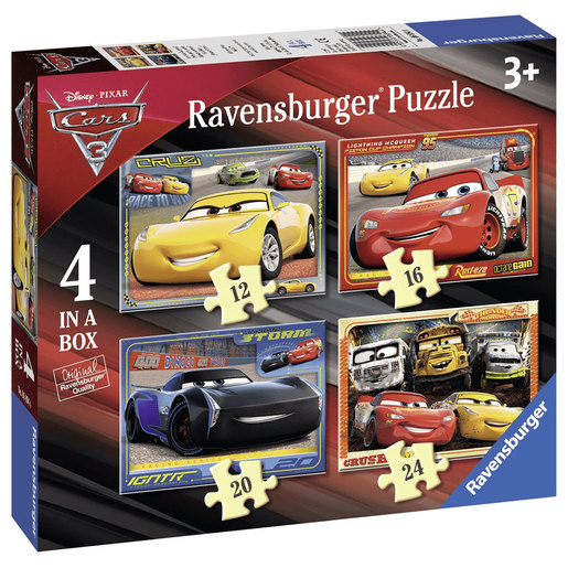 Ravensburger Cars 3 - 4 In A Box Jigsaw Puzzle