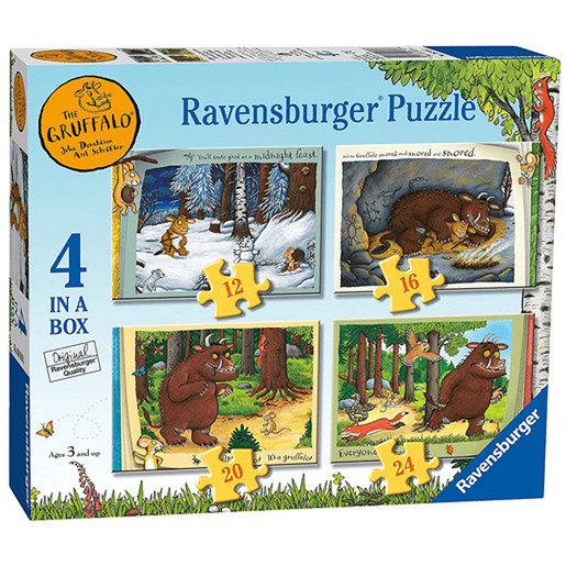 Ravensburger 4 in a Box Jigsaw Puzzle - The Gruffalo