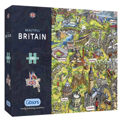 Gibsons Beautiful Britain Puzzles - 1000pcs.