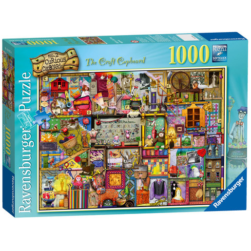 Ravensburger The Curious Cupboard No.2 The Craft Cupboard Puzzle - 1000pcs.