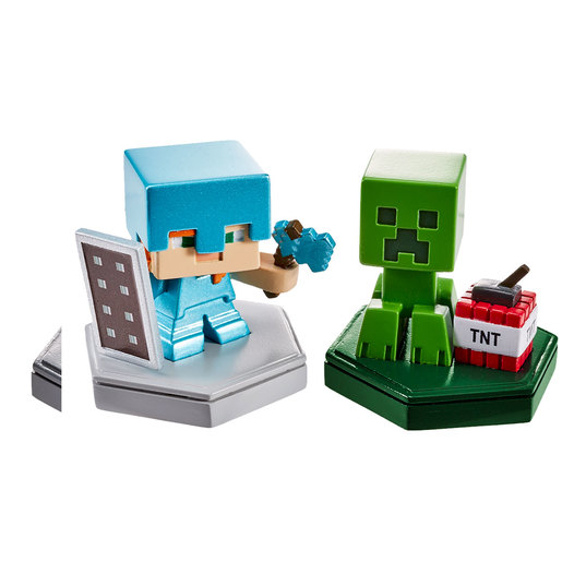 Minecraft Earth Mini Boost Figures - Defending Alex and Mining Creeper