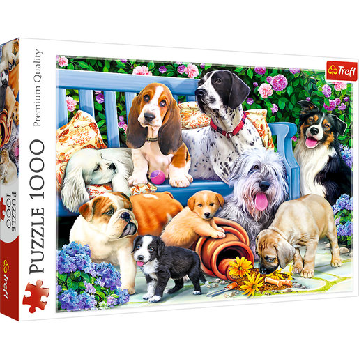 Trefl - Dogs In The Garden 1000pc Puzzle