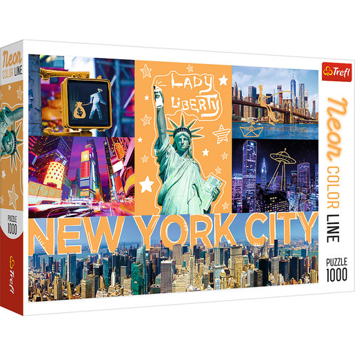 Trefl - Neon Colour Line New York 1000pc Puzzle