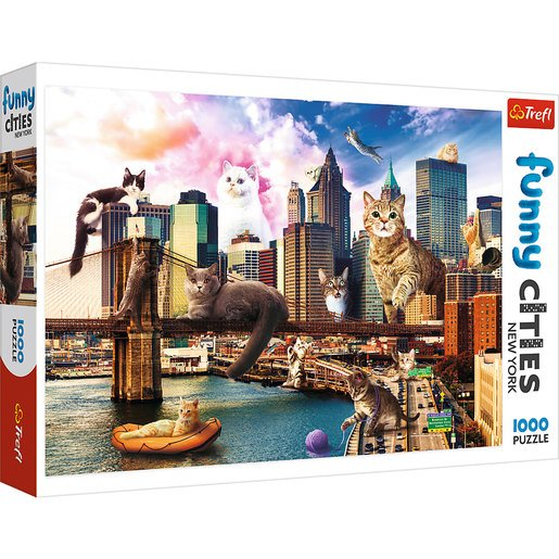 Trefl - Funny Cities Cats In New York 1000pc Puzzle