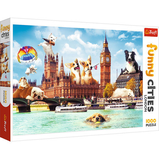 Trefl - Funny Cities Dogs In London 1000pc Puzzle