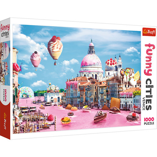 Trefl - Funny Cities Sweets In Venice 1000pcs Puzzle