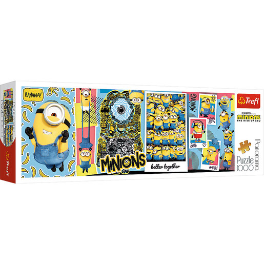 Trefl Minions The Rise Of Gru Panorama Puzzle - 1000pcs.
