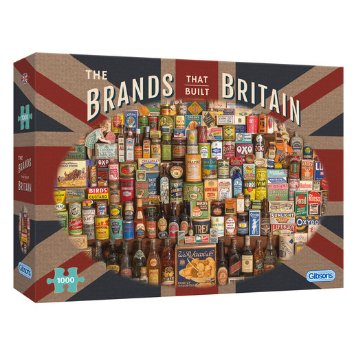 Gibsons The Brands That Built Britain Puzzle - 1000pcs.