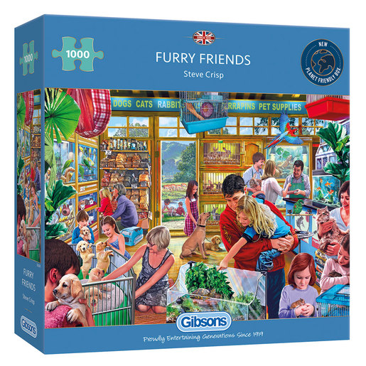 Gibsons Furry Friends Puzzle - 1000pcs.