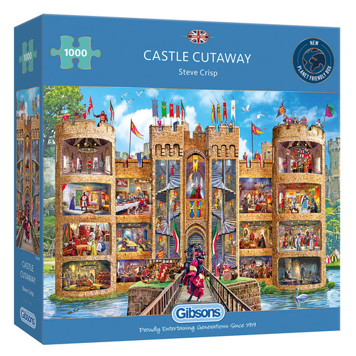 Gibsons Castle Cutaway Puzzle - 1000pcs.