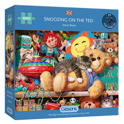 Gibsons Snoozing On The Ted Puzzle - 1000pcs.