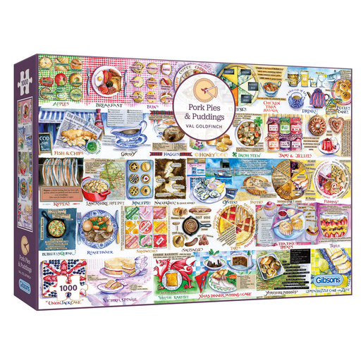 Gibsons Pork Pies and Puddings Puzzle - 1000pcs.