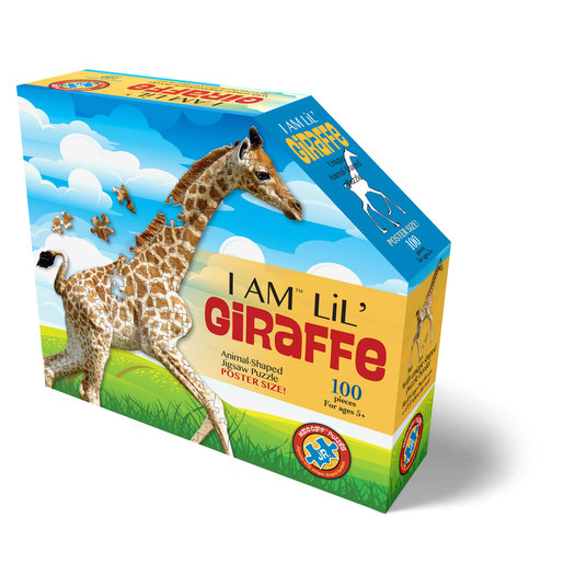 Madd Capp I Am Lil' Giraffe Animal Shaped Poster Size Puzzle - 100pcs.