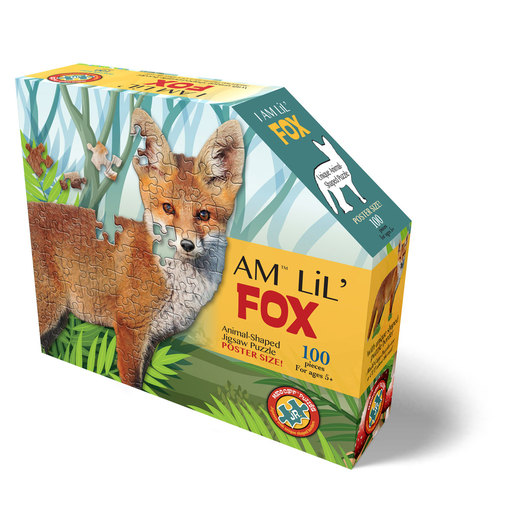 Madd Capp I Am Lil' Fox Animal Shaped Poster Size Puzzle - 100pcs.