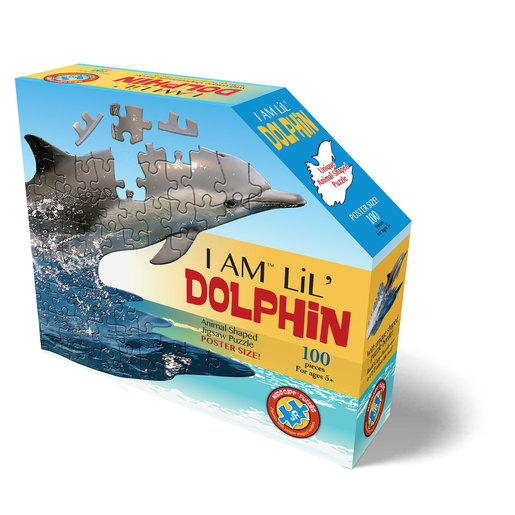 Madd Capp I Am Lil' Dolphin Animal Shaped Poster Size Puzzle - 100pcs.