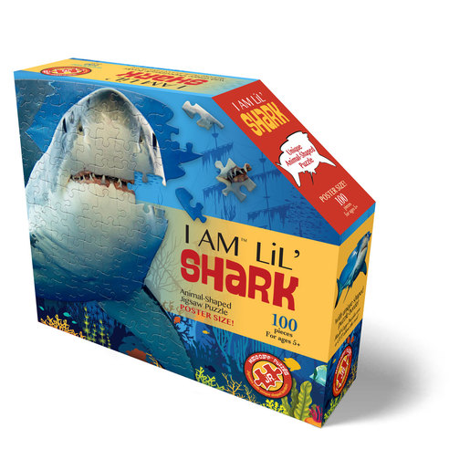 Madd Capp I Am Lil' Sharks Animal Shaped Poster Size Puzzle - 100pcs.