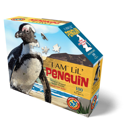 Madd Capp I Am Lil' Penguin Animal Shaped Poster Size Puzzle - 100pcs.