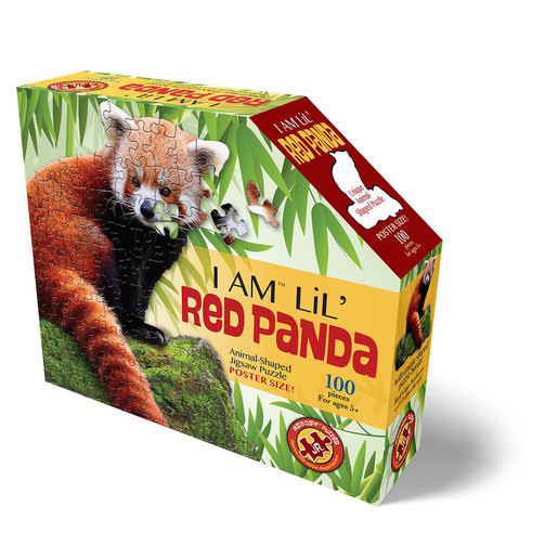 Madd Capp I Am Lil' Red Panda Animal Shaped Poster Size Puzzle - 100pcs.
