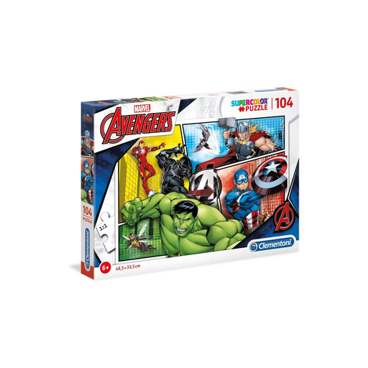 Avengers Supercolour Puzzle - 104 Pieces