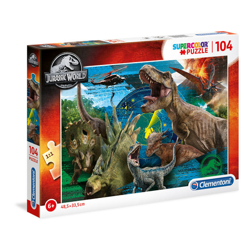 Jurassic World Jigsaw Puzzel 104 Pieces
