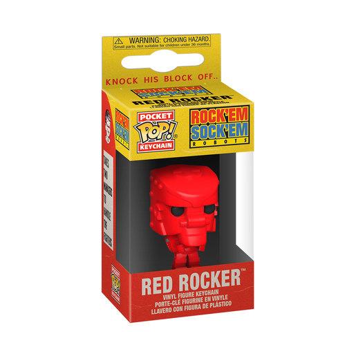 Funko Pop! Keychain: Mattel- Rock'EM'Sock'EM' Robot (Red)