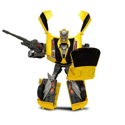 Car-Bots Figure - Yellow Camaro