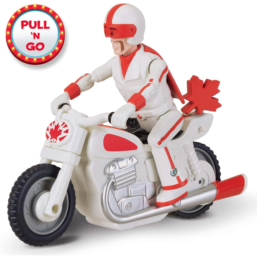 Disney Pixar Toy Story 4 Duke Caboom With Motorcycle