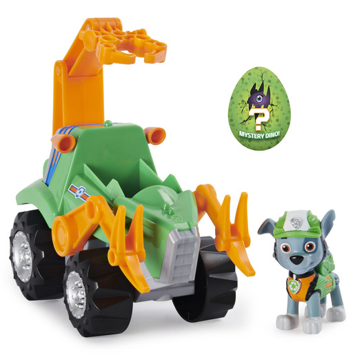 Paw Patrol Dino Recue Deluxe Vehicle and Mystery Dinosaur - Rocky