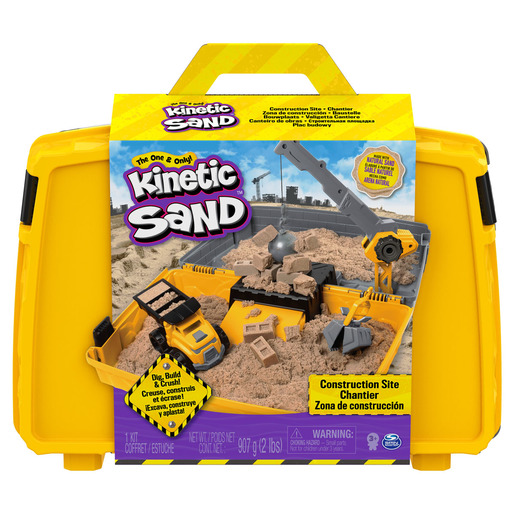 Kinetic Sand Construction Side Sand Box