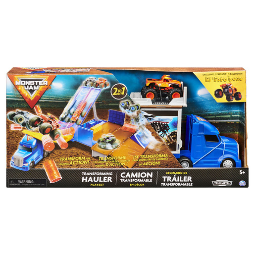 Monster Jam 1:64 2-in-1 Transforming Hauler Playset