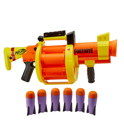 Nerf Fortnite GL Rocket-Firing Blaster – 6-Rocket Drum