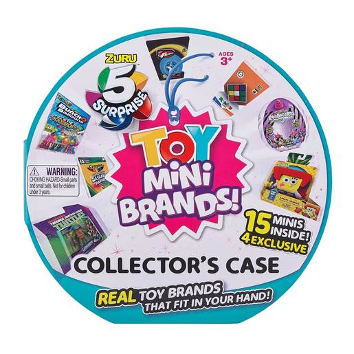 5 Surprise Toy Mini Brands Collector's Case with 15 Minis  by ZURU