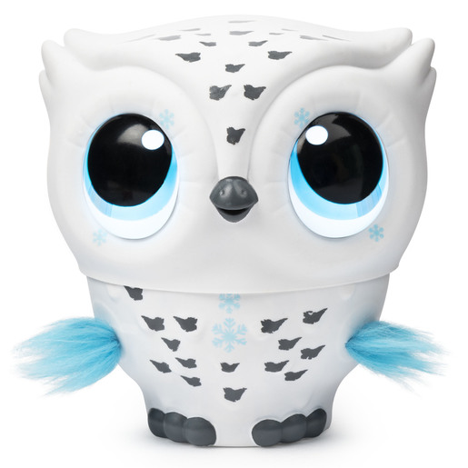 Owleez Flying Baby Owl Interactive Toy - White