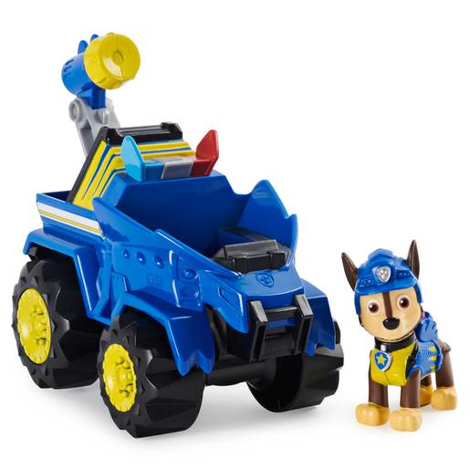 PAW Patrol Dino Rescue - Deluxe Rev Up Vehicle with Chase
