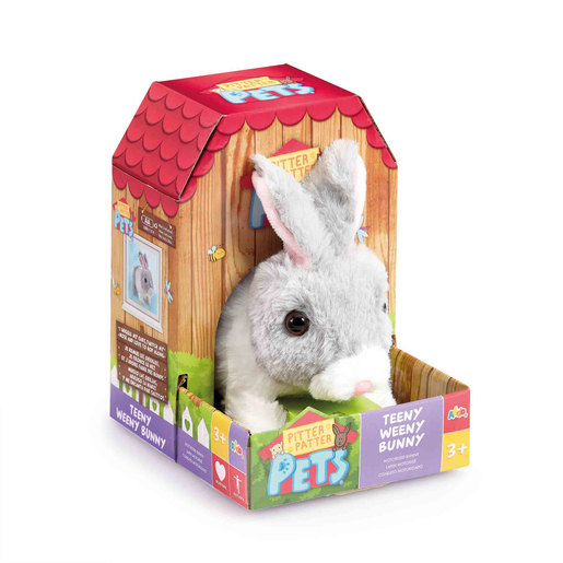 Pitter Patter Pets Teeny Weeny Bunny - Grey
