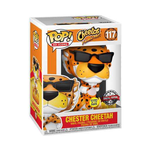 Funko Pop! AD Icons: Cheetos - Glow in the Dark Flaming Hot Chester Cheetah (Special Edition)