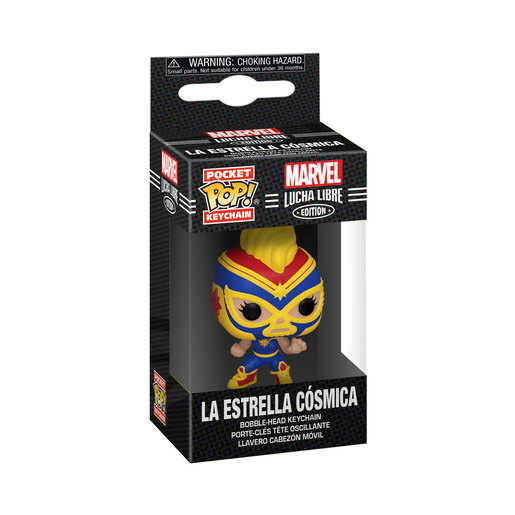 Funko Pop! Keychain: Marvel Luchadores- Captain Marvel