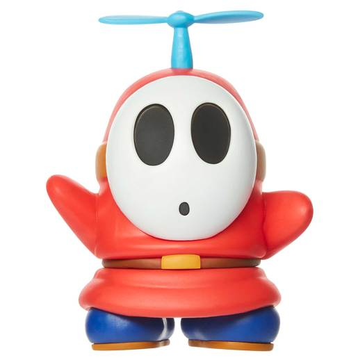 Super Mario 10cm Figure - Red Shy Guy With Propeller