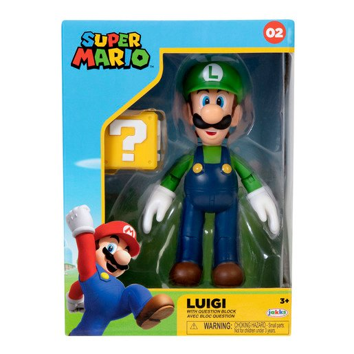 Nintendo 4 Inch Figure - Luigi With Question Block