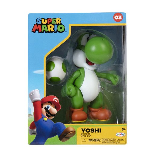 Super Mario Green Yoshi With Egg With 4 Inch Figure