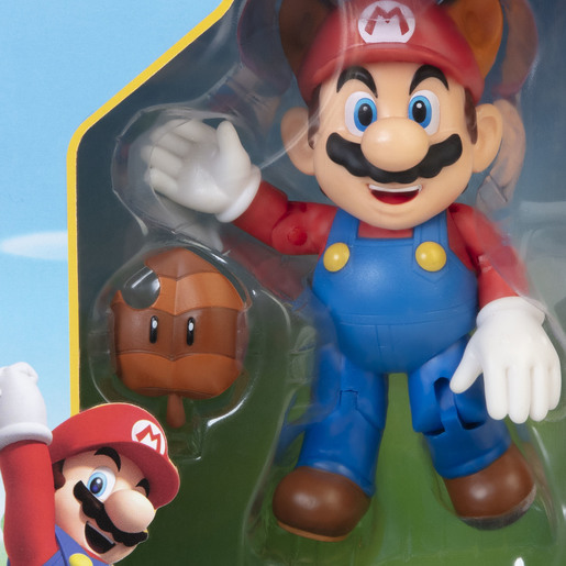 Nintendo 4 Inch Figure - Raccoon Mario With Leaf